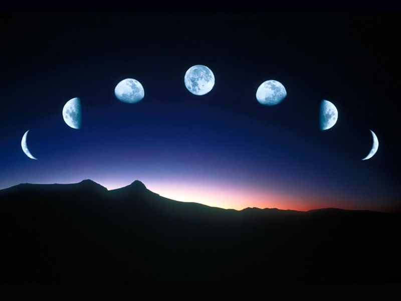 Moon in phases